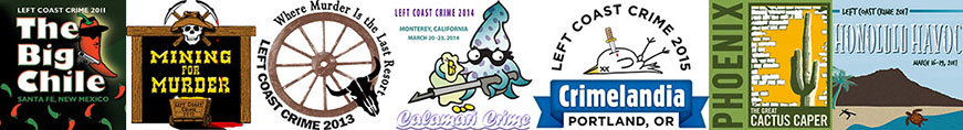 Left Coast Crime Logos